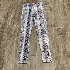 Mono B snakeskin print legging- S